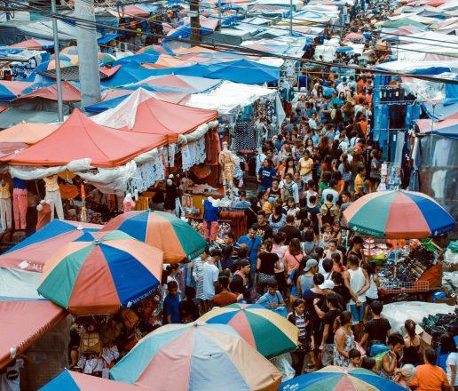Asian market scene